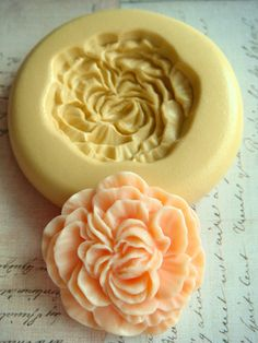 Peony Blossom - Flexible Silicone Mold - Push Mold, Polymer Clay Mold, Resin Mold, Craft Mold, Food Mold, PMC Mold.