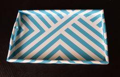 DIY striped tray