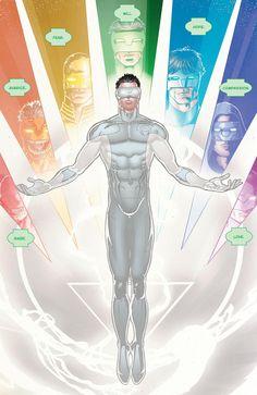 White Lantern Kyle Rayner New Guardians Full Spectrum Complete