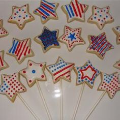 Cut-Out Cookies in a Flower Pot #IndependenceDay #Holiday #Stars
