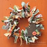 Ribbon Wreath with Button Accents a DIY that is easy to make