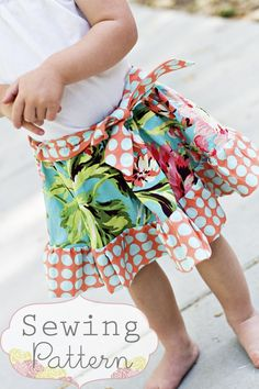 Happy Skirt Sizes 3/6 months to 6 Sewing by sewsweetpatterns