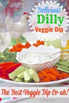Delicious dilly veggie dip!! Come get the recipe!