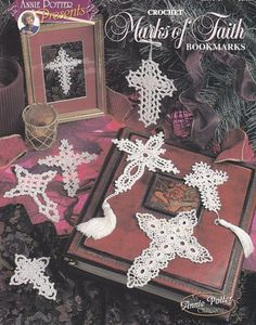 Cross Bookmarks Crochet Patterns - 12 Thread Crochet Designs - Marks of Faith