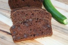 Moist and delicious chocolate chip zucchini loaf.  So tasty and easy to make.  Makes 2 loaves, one to share or to freeze.