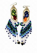 Angel Hands Earrings Pattern by Charlotte Holley - Beaded Legends by Chalaedra at Bead-Patterns.com