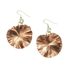 Amazon.com: John S Brana Copper Lily Pad Earrings: Jewelry