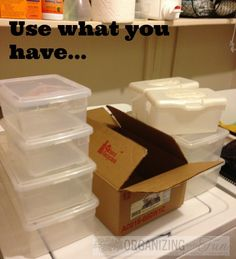 Don't spend a fortune on organizing products. Use what you have | OrganizingMadeFun.com
