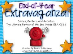 The Ultimate review of the 2nd grade ELA CCSS!  Over 100 pages of fun, engaging centers, games and activities!