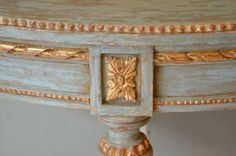 Pair of 19th century Gustavian Style Painted Console Tables. Sweden circa 1870 | From a unique collection of antique and modern console tables at http://www.1stdibs.com/furniture/tables/console-tables/