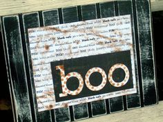 Welcome guests into your spooky house with a quick and easy project using basic scrapbooking and decoupage supplies.