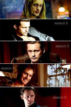 True Blood. Eric through the seasons