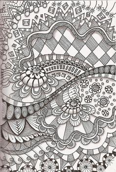 Tangle 35 by kraai65, via Flickr journal, drawing art, zentangl zendoodl, quilt design, doodl zentangl, zen tangles, painting patterns, doodle art, zentangle patterns