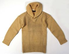 Tan wool sweater, American, ca. 1927.