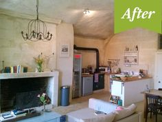 Renovated Cave in France - After Photos