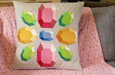 Gemstone Pillow: English Paper Piecing PDF Pattern | CraftyPod Shop