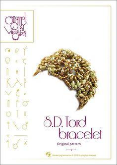 Bracelet  tutorial / pattern SD Tord with by beadsbyvezsuzsi, $13.00