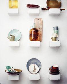kitchens, floating shelves, kitchen shelves, kitchen storage, wall displays, interior styling, hous, toast, kitchen walls