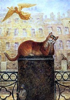 Russian-cat-angel-art by Vladimir Rumyantsev