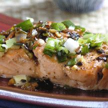 Pan-Roasted Salmon with Black-Bean Garlic Sauce - Weight Watchers, 6 Points