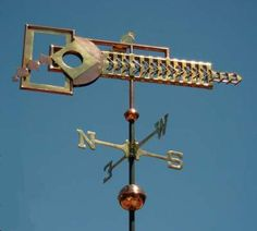 Art Deco Weather Vane by West Coast Weather Vanes.  This Art Deco weathervane can be customized by choosing to use copper, copper and brass, and/or optional gold or palladium leaf.