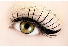 This webbed eye makeup is sure to stop a crowd. #halloween #eye #makeup