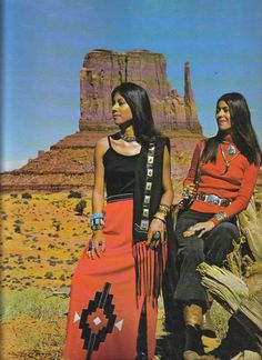 Vintage Photo of Native Women at Monument Valley.