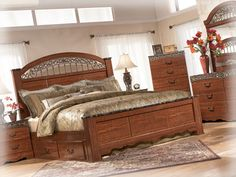Like The Bed Posts Timberline Bedroom Set Ashley Furniture