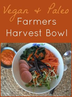 This vegan and paleo harvest bowl is perfect for a satisfying fall meal. (It's also perfect for summer. Or winter. Or any time of year, really.)