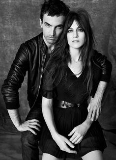 The Balenciaga designer Nicolas Ghesquière and his longtime muse Charlotte Gainsbourg.