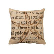 Far side of the sea bible verse starfish pillow