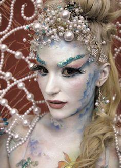 siren, artists, fantasy makeup, mermaid hair, sea, character design, avant garde, eyebrows, bodi paint