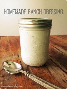 Homemade ranch dressing in just minutes, no processed packet needed. http://alwaysinwonder.com