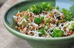 Broccoli and Wheat Berry Salad - For a change up try using barley in place of the wheat berries.