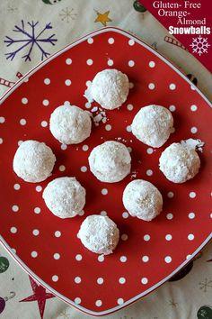 Gluten Free Orange- Almond Snowballs
