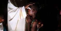 Sunday Mass at the Catholic mission in Bossemptele, Central African Republic. When the town was invaded by militias, the mission grounds provided refuge to both Christians and Muslims. The photographer Jehad Nga accompanied Jon Lee Anderson to the Central African Republic to report on the country's horrific sectarian civil war: http://nyr.kr/1wbTG6Z (Photograph by Jehad Nga)