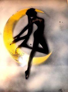 Custom spray paint art. Sailor moon galaxy my little by Crucify