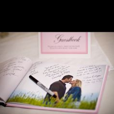 Engagement picture guest book