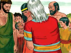 Free Bible illustrations at Free Bible images of a son, Ishmael born to Abram (Abraham) by Hagar. (Genesis 16): Slide 9