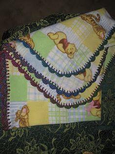 Polar Fleece Blankets, crochet edging