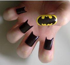 geek, bats, comic, manicur, catwoman, nail arts, batman, nails, knight