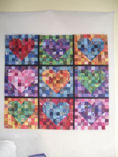 Hearty Patchwork-round robin center?? heart attack, scrappi quilt, folk art, pattern, art quilt, heart patchwork, scrappi heart, rainbow scrap, hearti patchwork