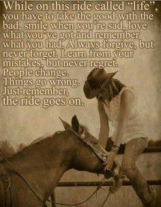 Yep - ride on - live & learn!