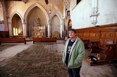 Sister Jean Ryan talks about the chapel inside the long-empty St. Francis de Sales High School.
