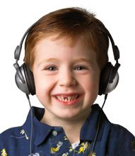 Toddler headphones that limit volume and don't require constant readjusting.