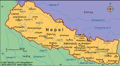 mountains, nepal map, amaz place