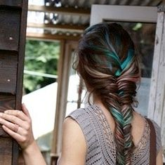 Turquoise highlights....maybe once my hair grows out
