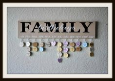 Always forgetting birthdays? Forget no more with this handy and pretty Family Birthdays reminder!