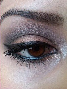 I want to be able to do this eye make-up.