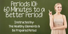 If you've ever wished for a Better Period...one that didn't leave you suffering from so many symptoms, this free event is for you! http://thehealthyelements.com/60-minutes-to-a-better-period/